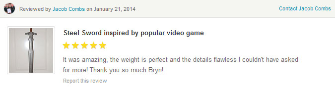 Skyrim Sword and Shield Buyer Feedback