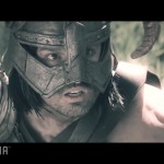 Skyrim Into the Void video screen shot Dovahkiin close up