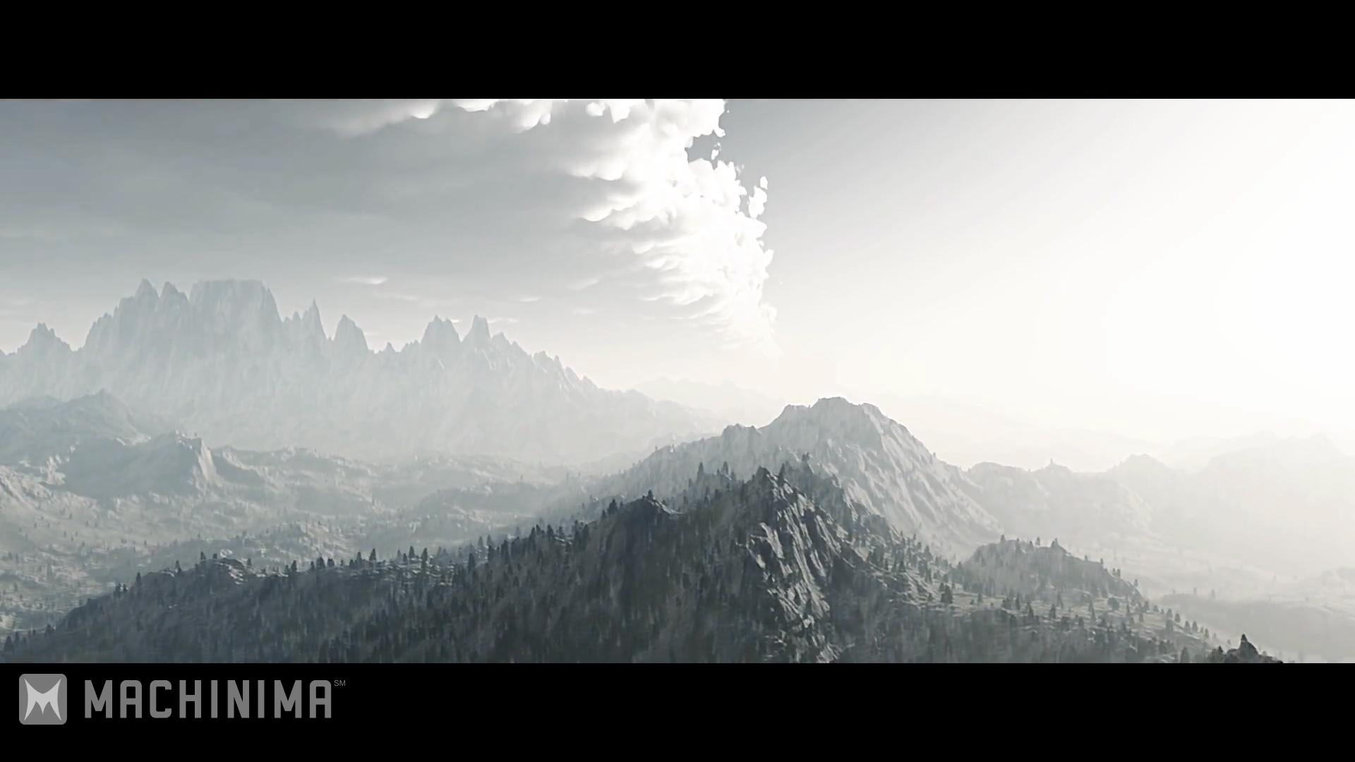 Skyrim Into the Void video screen shots Mountain scene