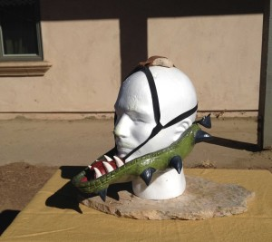 Custom Order Argonian Costume Helmet Rigging