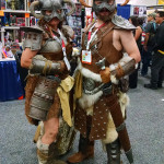 Skyrim Dovahkiin and Nord in Banded Steel Armor