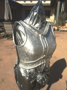 Skyrim Iron Armor cast painting