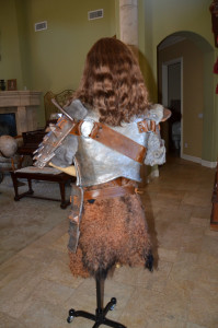 Women's Skyrim Banded Iron Armor back