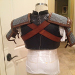 back view of Armor in work