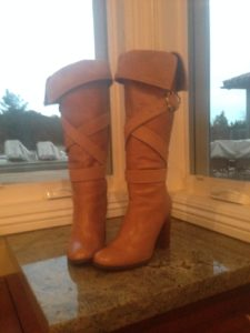 Ciri Boots made from purchased boots with added toppers and straps