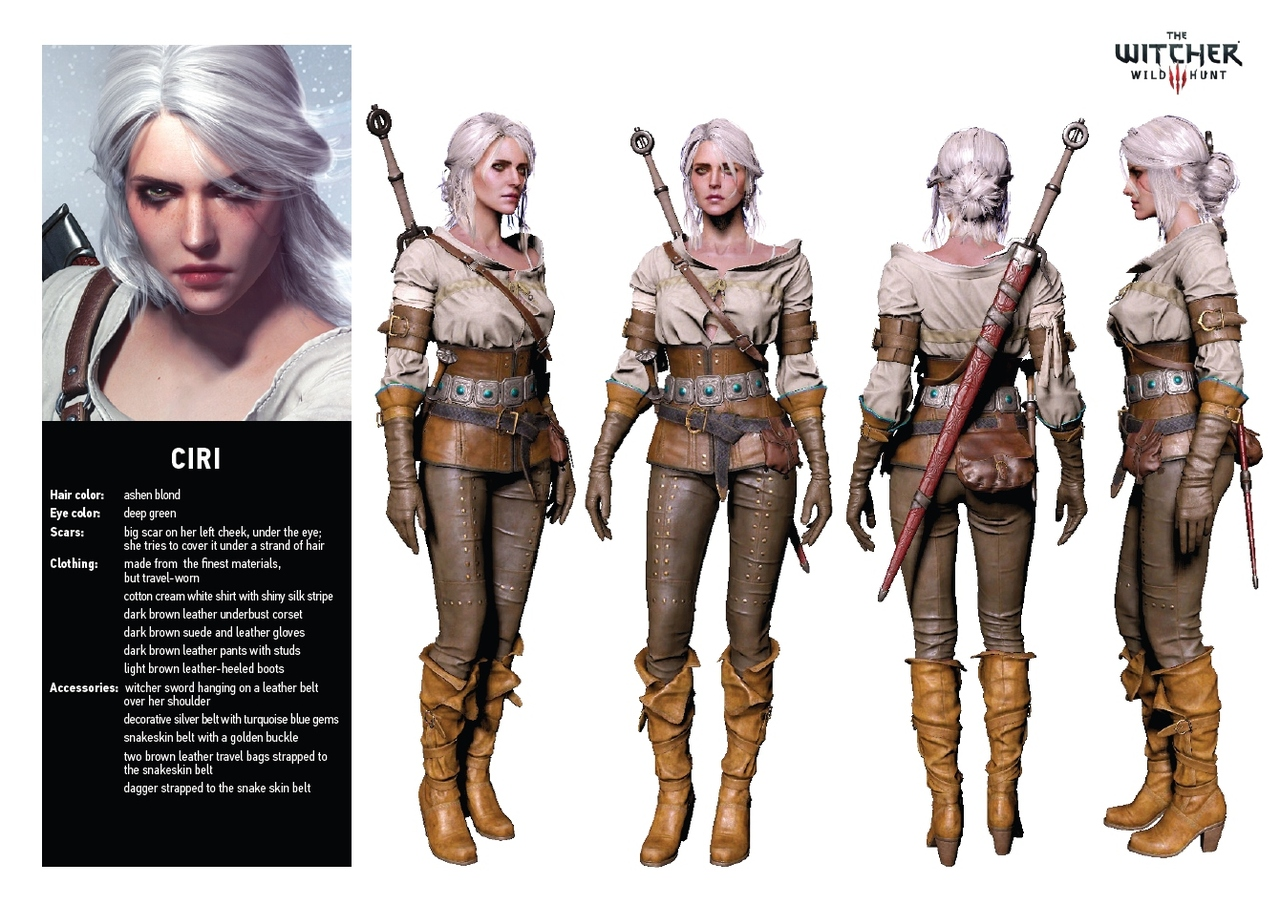 Ciri from The Witcher Wild Hunt Game
