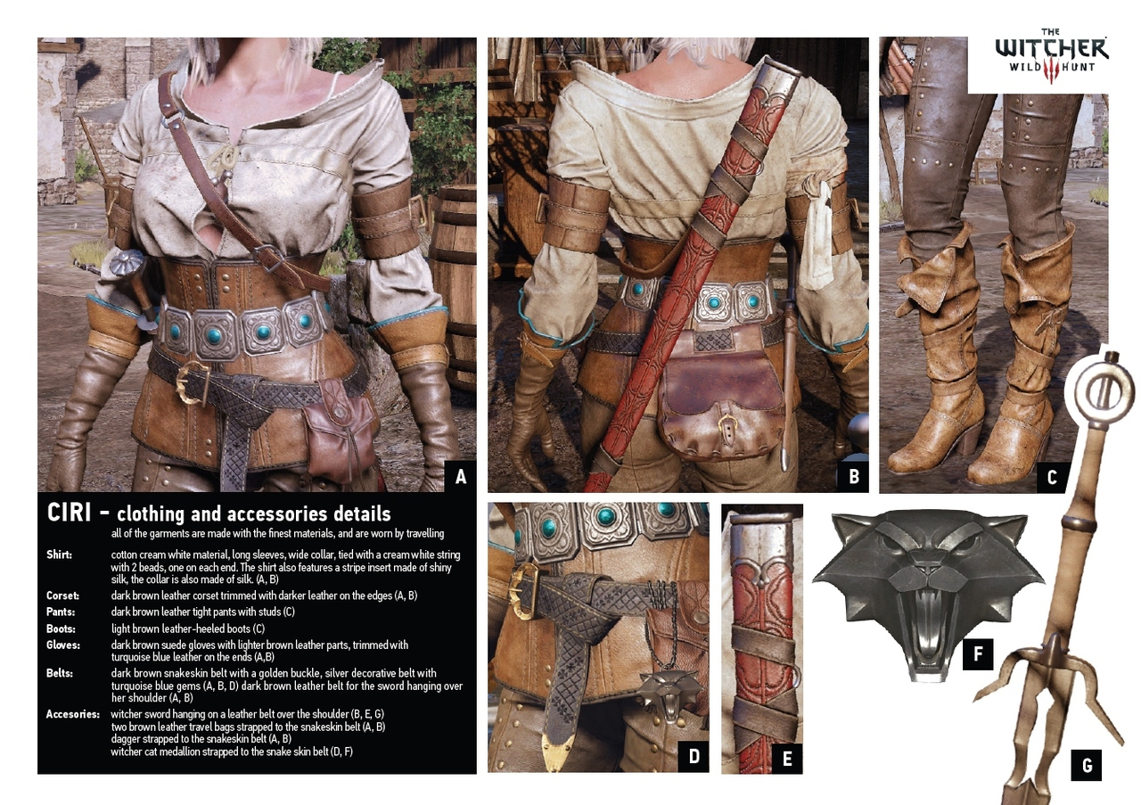 Ciri from The Witcher Wild Hunt Game Costume close ups