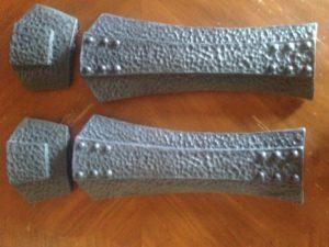 Cast plastic Leg Armor