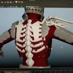 Witcher Series Eredin Model back view in progress
