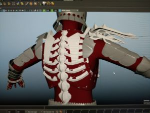 Witcher Series Eredin Model back view in progress